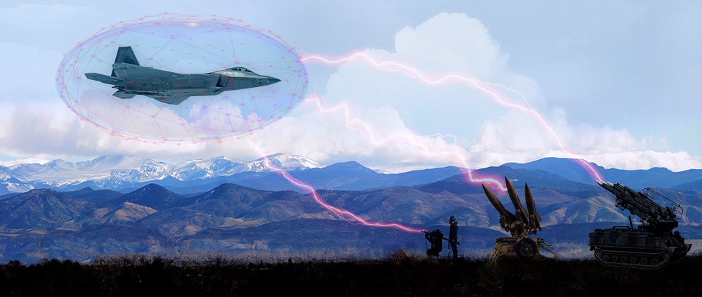 Fighter Jet Maintaining Electromagnetic Spectrum Superiority
