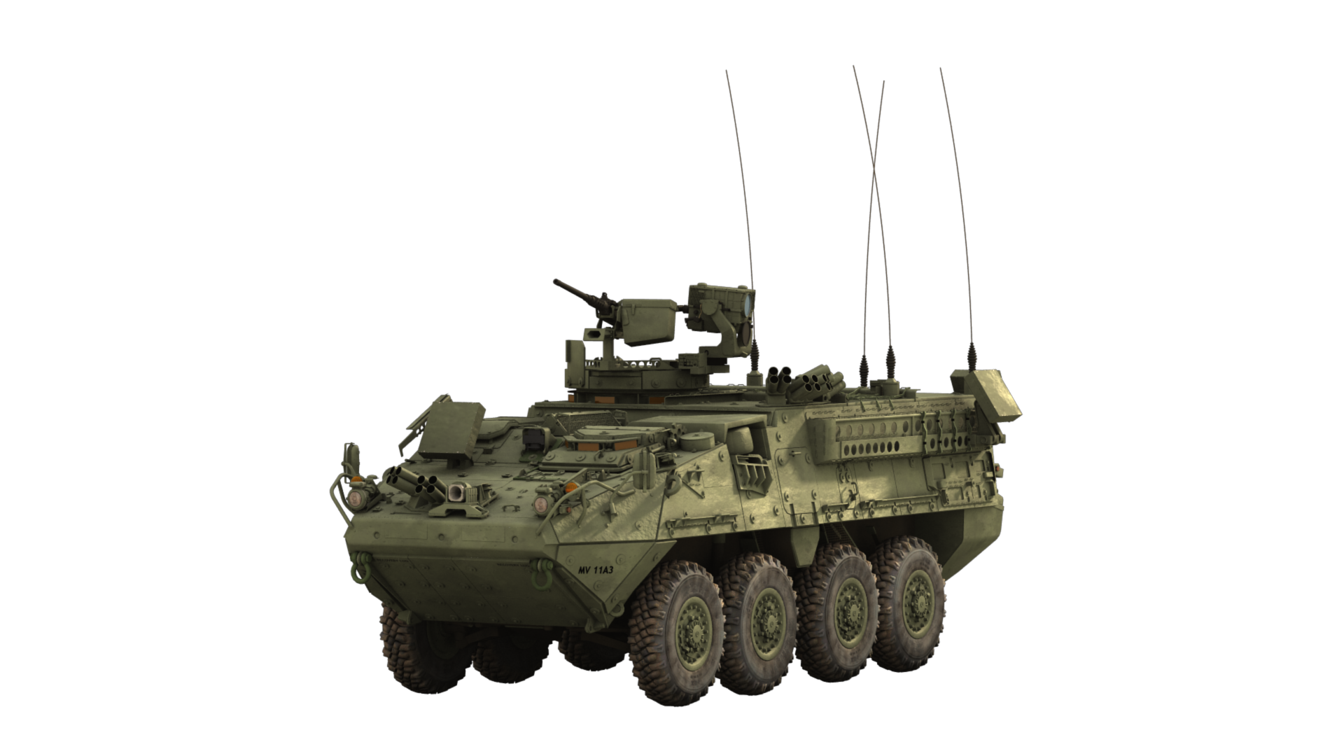 SkyChaser on-the-move radar mounted on Stryker system