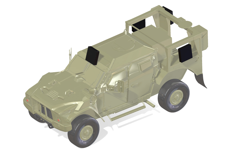 3D model of SkyChaser system on JLTV model