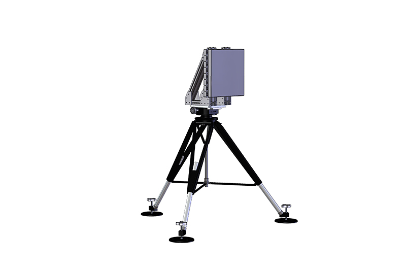 SkyChaser system mounted on a tripod corner view